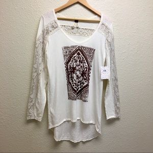 We The Free butterfly print top